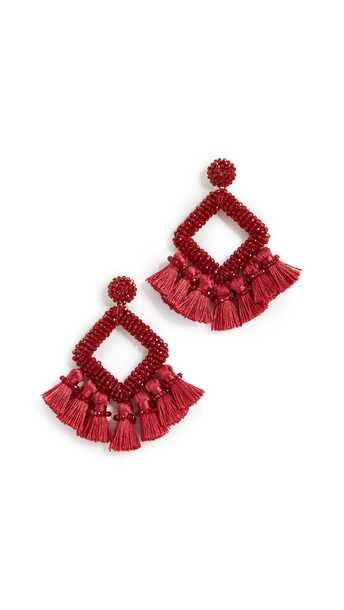 BaubleBar Gem Laniyah Drop Earrings in gold / red