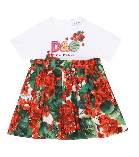 Dolce & Gabbana Kids Baby cotton dress and bloomers set