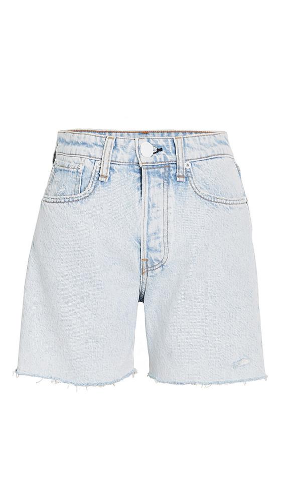 Rag & Bone/JEAN Maya High Rise Midi Shorts in blue