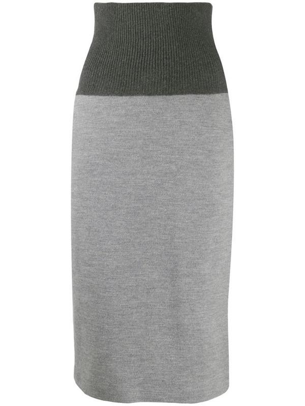 Fabiana Filippi high-waisted skirt in grey