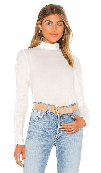 Bailey 44 Allegra T Neck Sweater in White