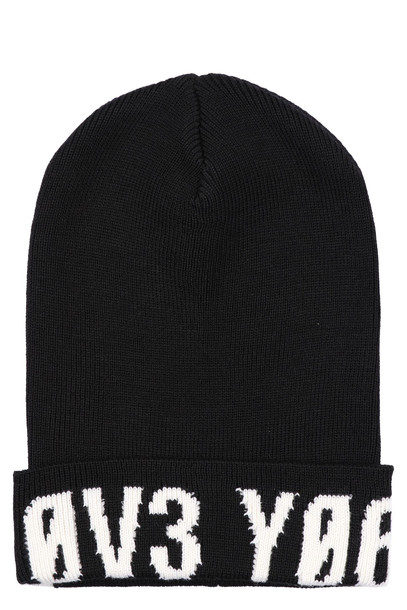 RED Valentino Knitted Virgin Wool Hat in black