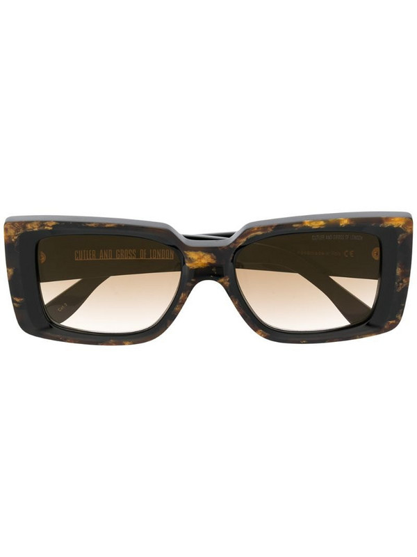 Cutler & Gross marbled effect sunglasses in brown