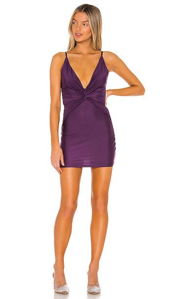 superdown Molina Twist Mini Dress in Purple