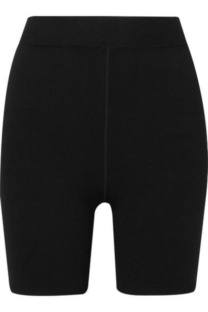 alexanderwang.t - Appliquéd Stretch-jersey Shorts - Black