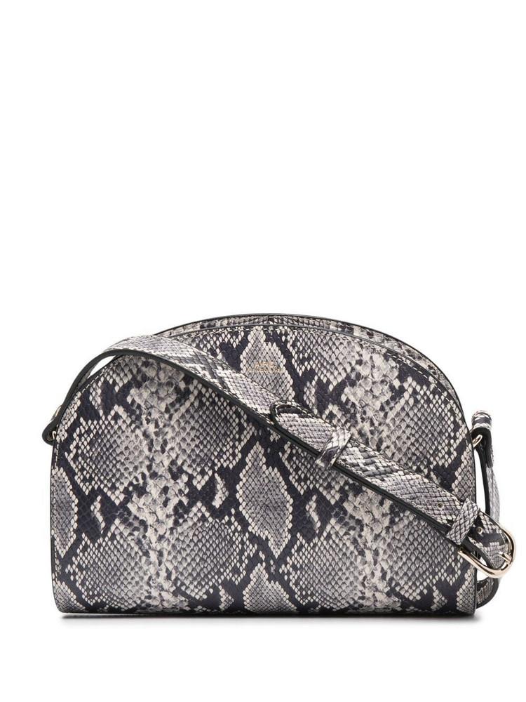 A.P.C. A.P.C. Demi Lune snakeskin-print shoulder bag - Neutrals