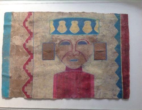 Lylia Forero Carr 'San Agustin, Columbia' Framed Mixed Media 20th C. Art Decor https://www.artdecornyc.com