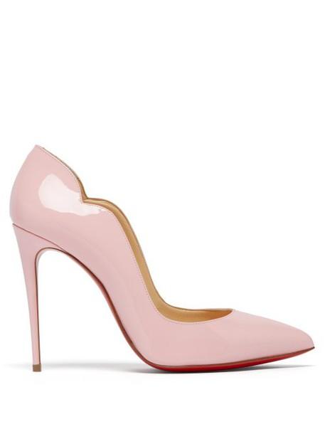 Christian Louboutin - Hot Chick 100 Patent Leather Pumps - Womens - Light Pink