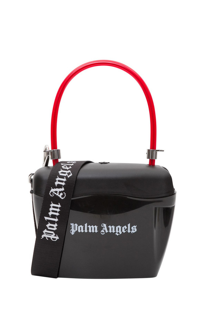 Palm Angels Strap Padlock Bag in nero