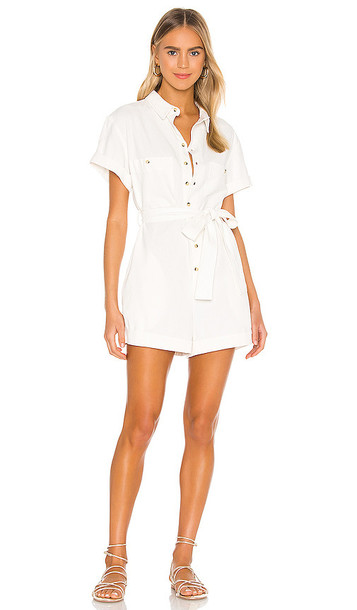 ROLLA'S Horizon Playsuit in White