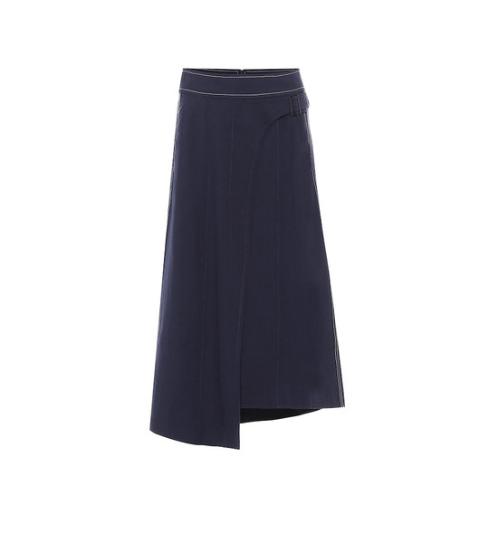 COLOVOS x Woolmark wool-blend skirt in blue