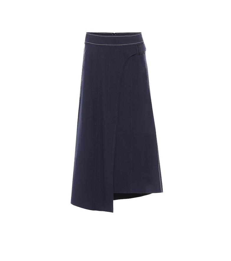 COLOVOS x Woolmark wool-blend skirt in blue