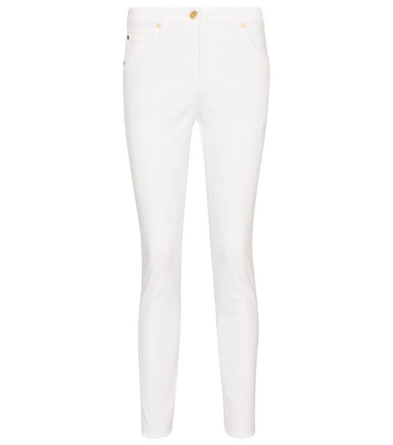 Brunello Cucinelli Mid-rise skinny jeans in white