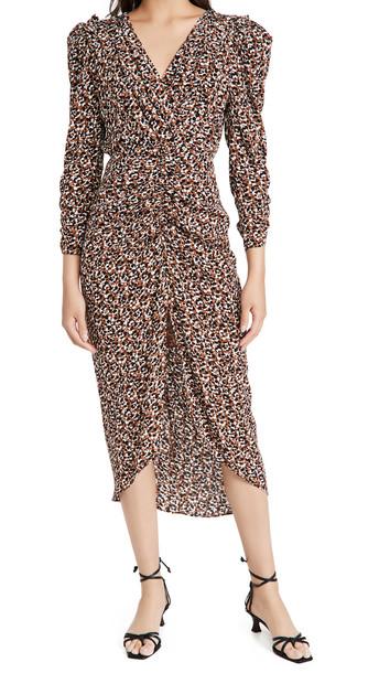 ASTR the Label Maven Dress in brown / multi