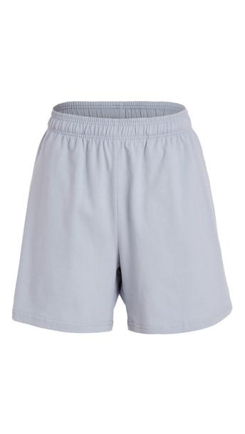 Reformation Boyfriend Knit Shorts in blue