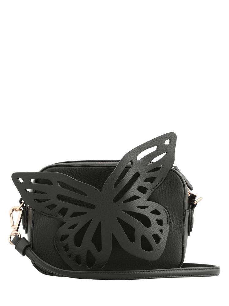 Sophia Webster Flossy Butterfly Camera Bag in black