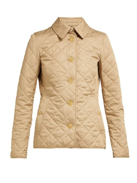 Burberry - Frankby Quilted Gabardine Jacket - Womens - Beige