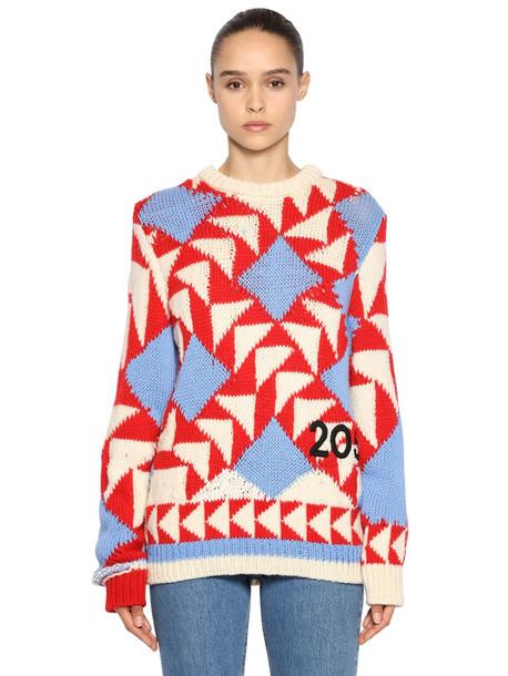 CALVIN KLEIN 205W39NYC Intarsia Wool Blend Sweater