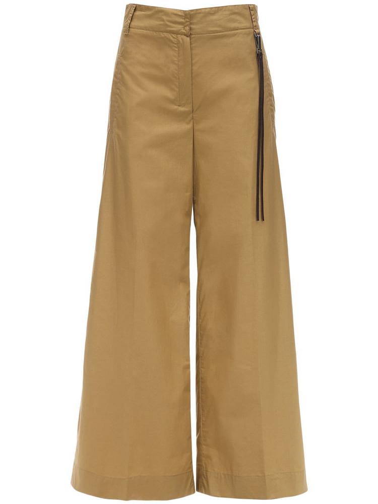 MAX MARA 'S High Waist Cotton Poplin Pants in beige