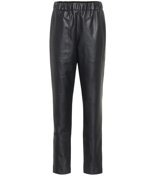 Tibi Faux leather pants in black