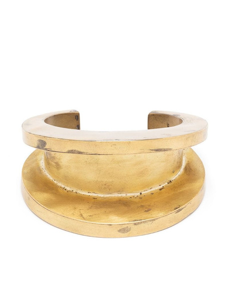 Parts of Four Crescent Channel bracelet in gold