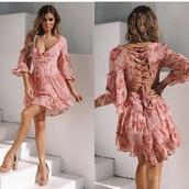dress,hellomolly,pink dress,flowers
