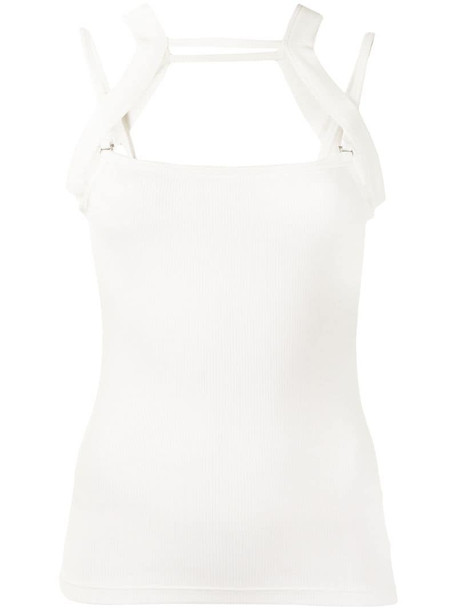 Dion Lee Rib Holster tank top in white