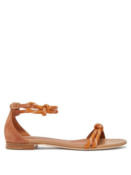 Malone Souliers - Fenn Rope Strap Suede Sandals - Womens - Tan
