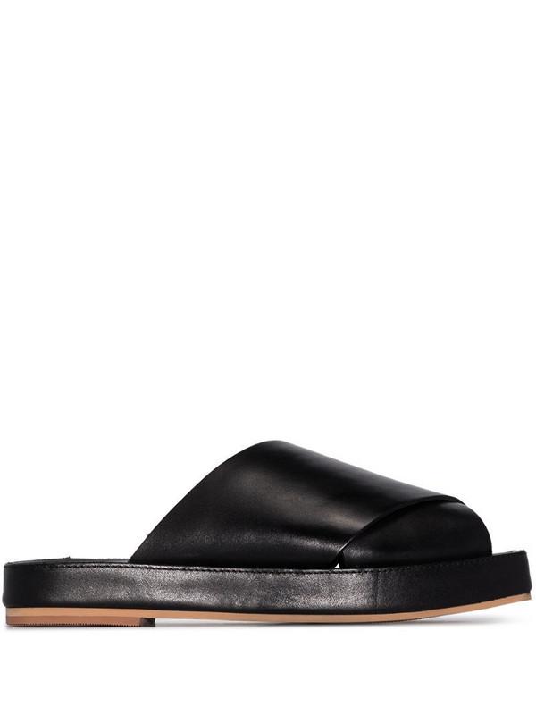 St. Agni Tokyo slip-on sandals in black