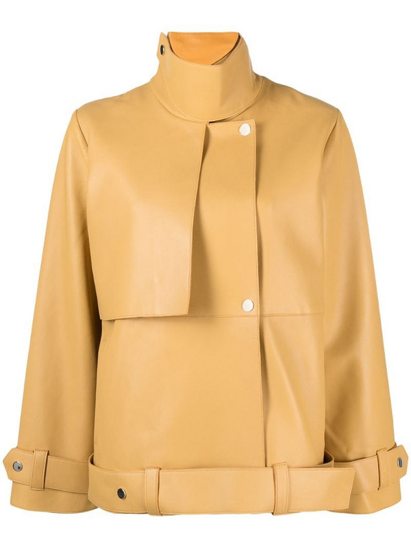 Aeron Staat leather jacket in yellow