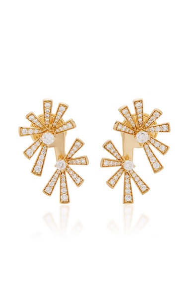 Hueb Mirage 18K Gold Diamond Earrings