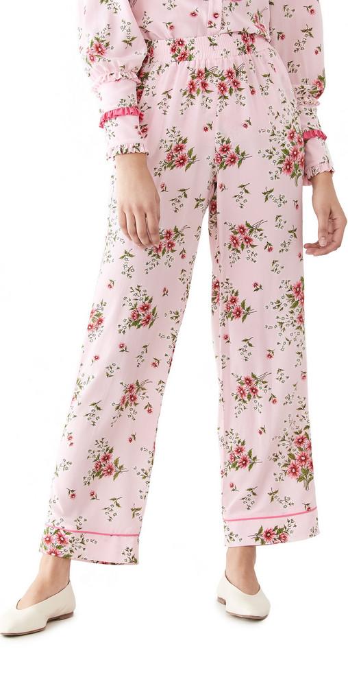 Rodarte Printed Pants in pink