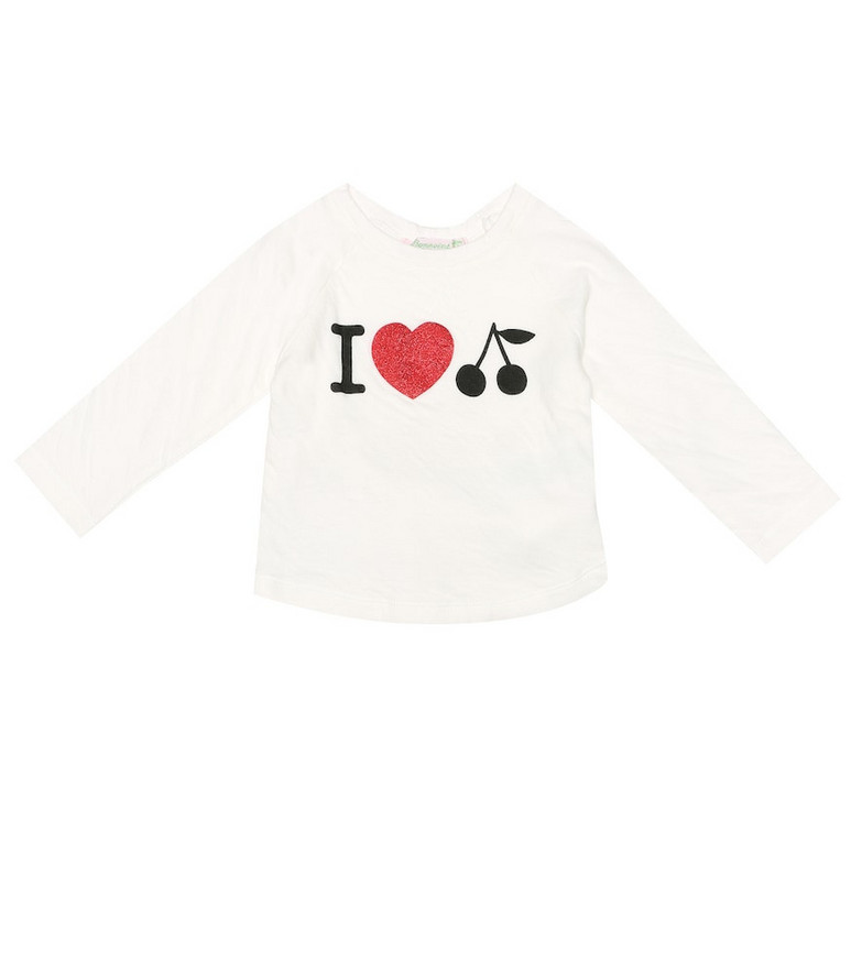 Bonpoint Baby printed cotton top in white
