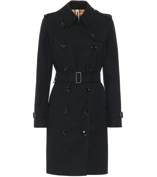 Burberry The Kensington cotton trench coat in black