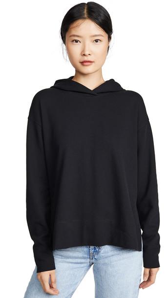 James Perse Split Side Hoodie in black
