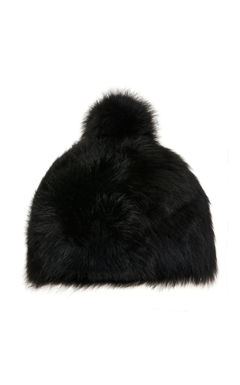 Bogner Sabia Pompom-Embellished Fur Hat Size: M in black