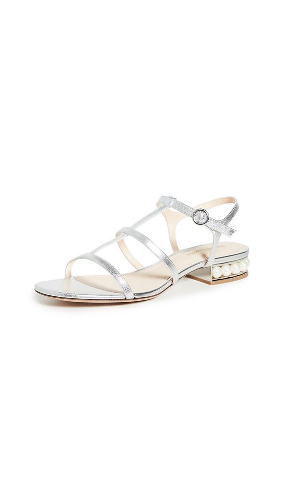 Nicholas Kirkwood Casati Strap Sandals in silver