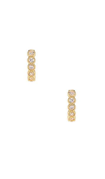 gorjana Madison Shimmer Huggie Earrings in Metallic Gold