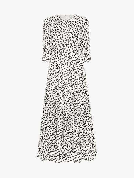 Rixo Agyness polka dot print tiered dress