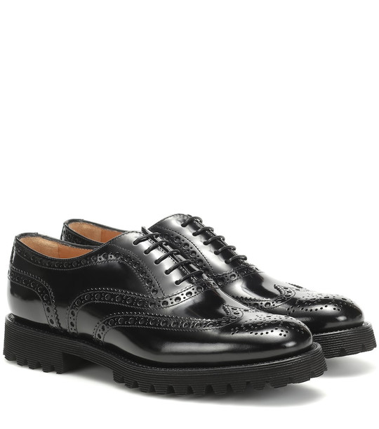 Church's Carla leather brogues in black