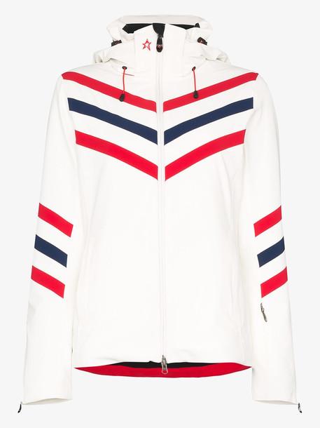 Perfect Moment White Chevron stripes ski jacket