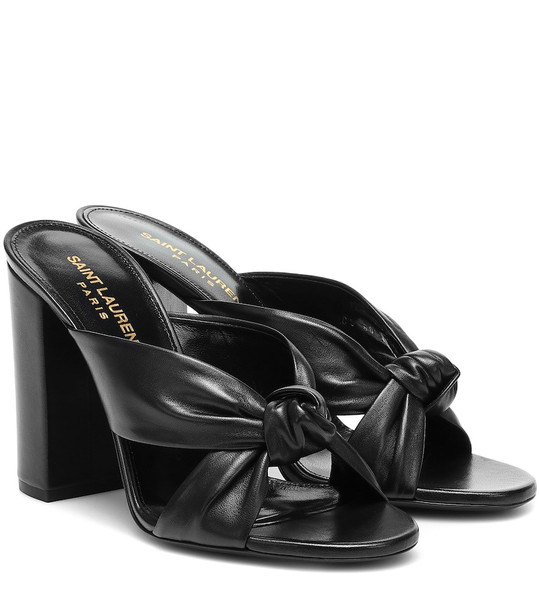Saint Laurent Loulou 100 leather sandals in black