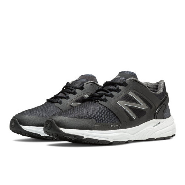 New Balance 3040 Men's Everyday Running Shoes - Black, Magnet, White (M3040BK1)