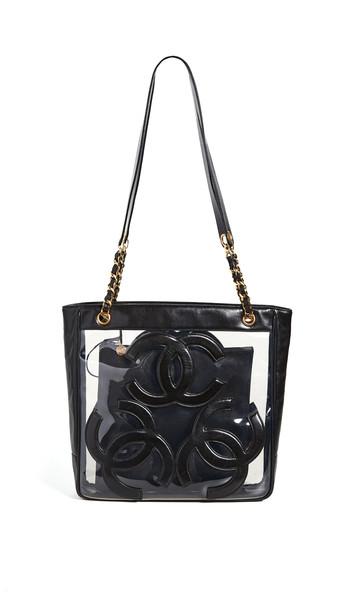 What Goes Around Comes Around Chanel Black Caviar Supermodel Tote