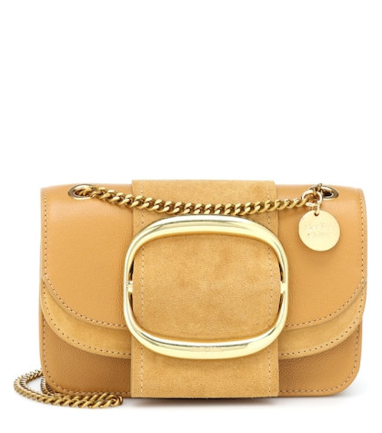 See By Chloé Hopper Small leather shoulder bag in yellow