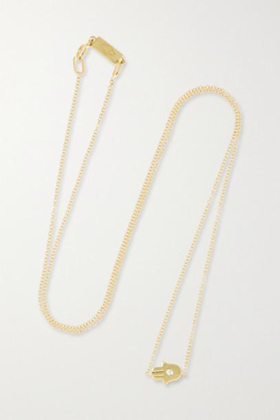 Jennifer Meyer - Mini Hamsa 18-karat Gold Diamond Necklace