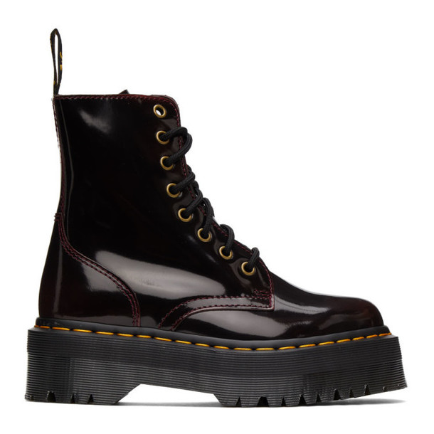 Dr. Martens Burgundy Jadon Arcadia Boots in red