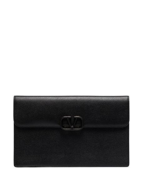 Valentino Garavani VLOGO envelope clutch in black