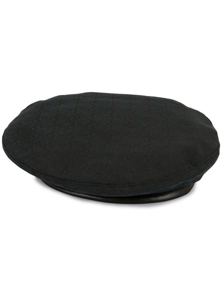 Gucci Pre-Owned GG pattern hunting hat cap in black