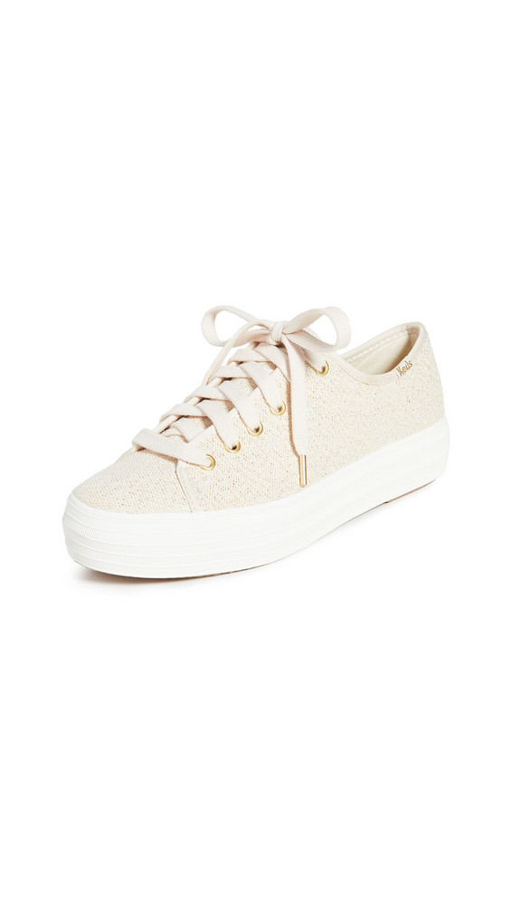 Keds Triple Kick Scattered Lurex Sneakers in beige